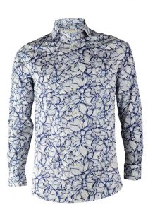 Blue Lotus print shirt
