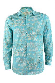 Dutch Artist Blossoms Print Shirt