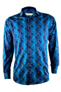 Bulls and Fish Print Shirt