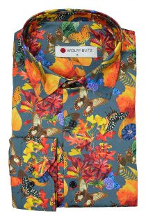 Colorful Butterflies Print Overhemd