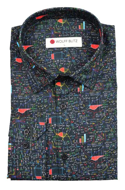 Colorful Math Print Shirt