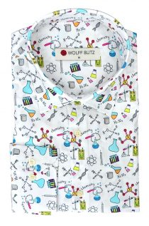 Colorful Chemistry Print Shirt