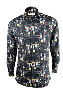 BLACK CIRCUIT CARD SHIRT